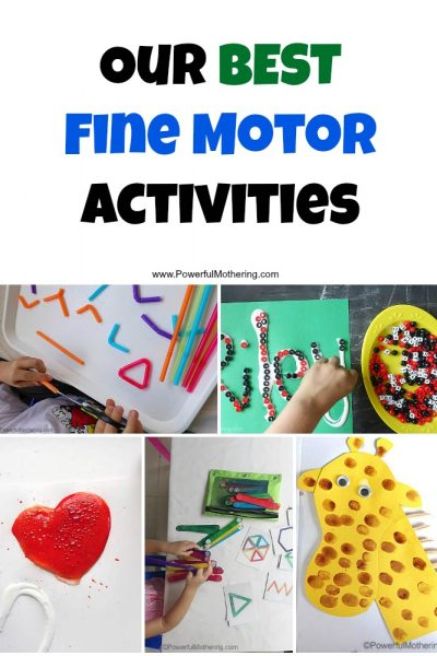 Our BEST Fine Motor Activities
