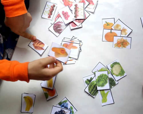 Sorting Fruit and Vegetables by Color