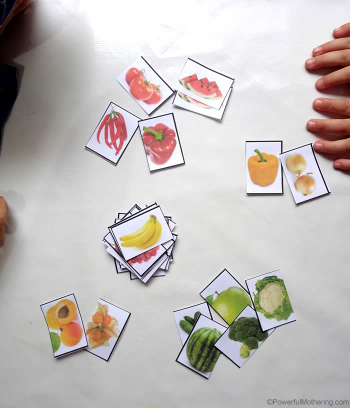 photo relating to Printable Fruit and Vegetables named Sorting Fruit and Veggies by way of Shade (with free of charge printable)