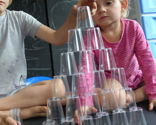 Teamwork with Stacking Cups