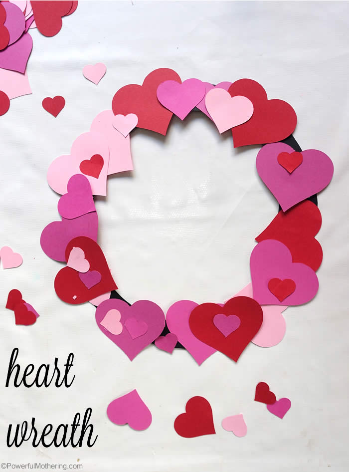 diy heart wreath for kids