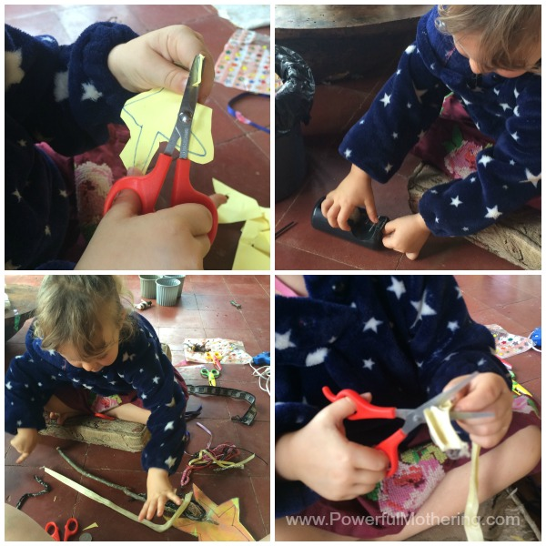 fine motor activity cutting