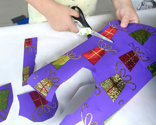 Cutting Practice and Games with Gift Wrap
