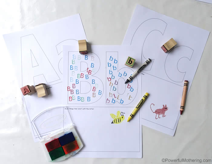 free printables pages of abc