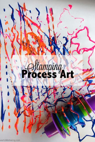 Stamping with Play Dough Tools (Process Art)