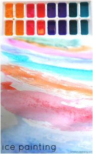 Ice Painting Art for Toddlers and Preschoolers
