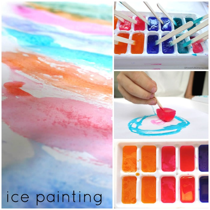 ice painting collage