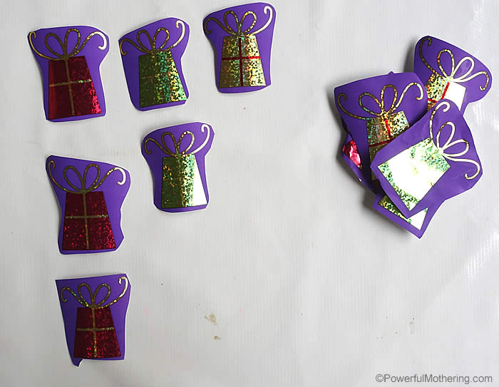 patterning with recycled gift wrap