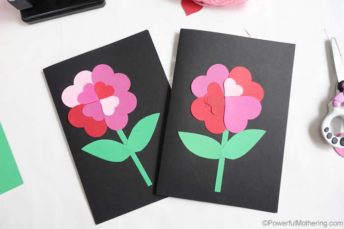 pretty heart cards