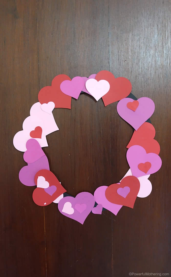 quick and easy heart wreath