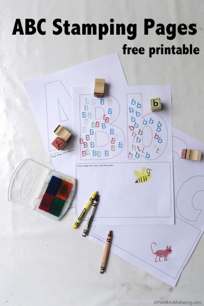 stamp the abc with these free printbales