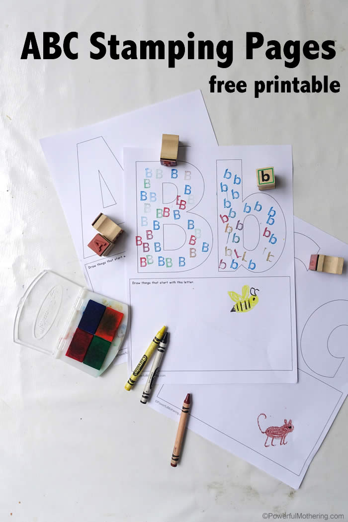 Free ABC Worksheets for Preschoolers - ABC Stamping