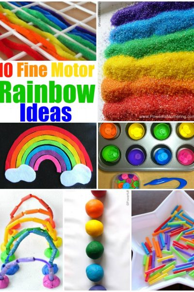 10 fine motor rainbow ideas for kids