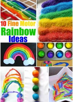Top 10 Fine Motor Skill Ideas Featuring Rainbows