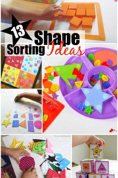 13 shape sorting ideas for toddlers and preschoolers