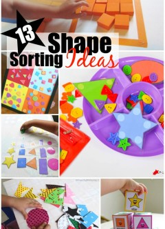 13 Shape Sorting Ideas for Preschoolers