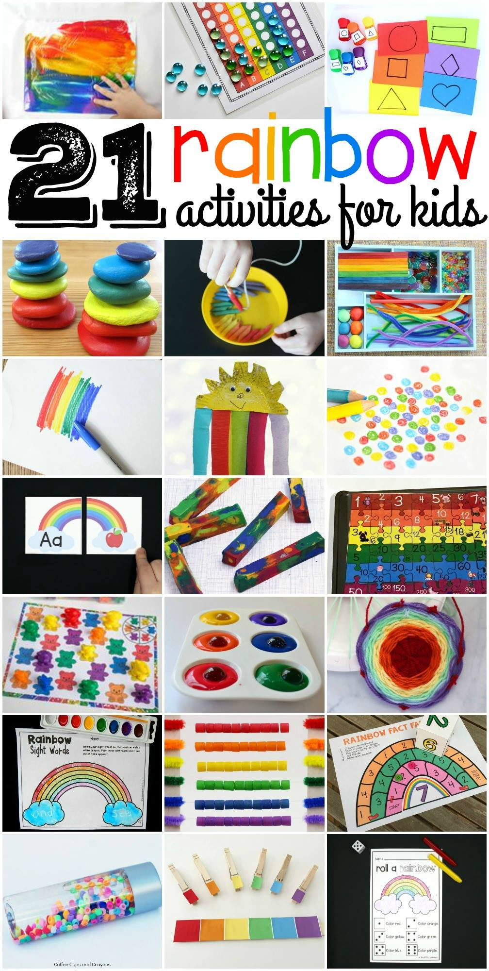 21 rainbow activities for kids