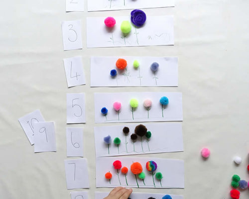 Counting & Number Recognition with Spring Flowers