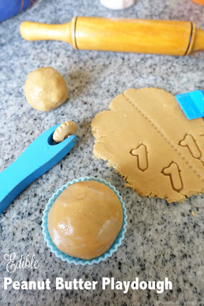 Edible Peanut Butter Playdough