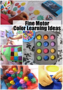 Fine Motor Color Learning Ideas