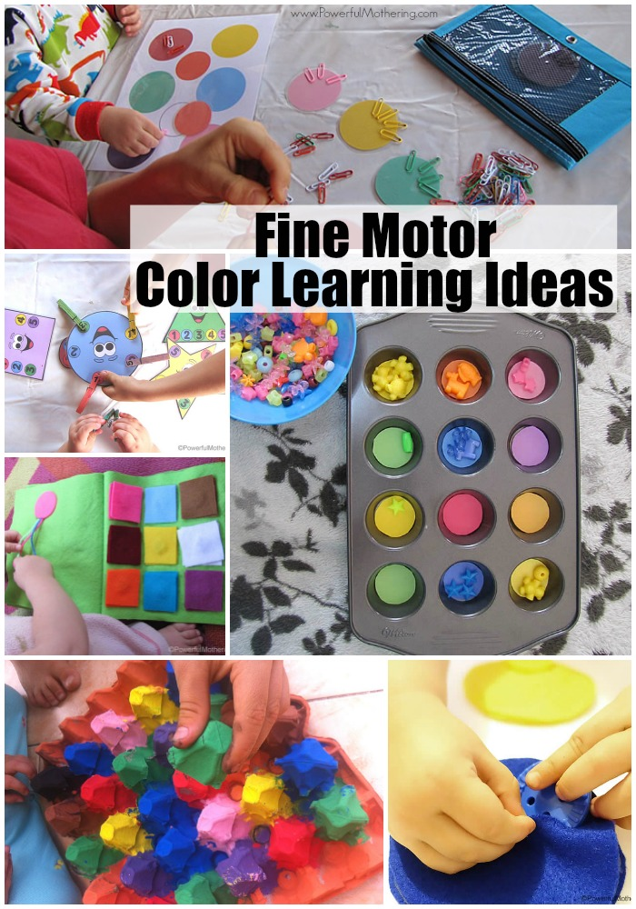 work on your color learning with these awesome fine motor ideas!
