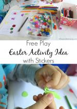 Free Play Easter Activity Idea with Stickers