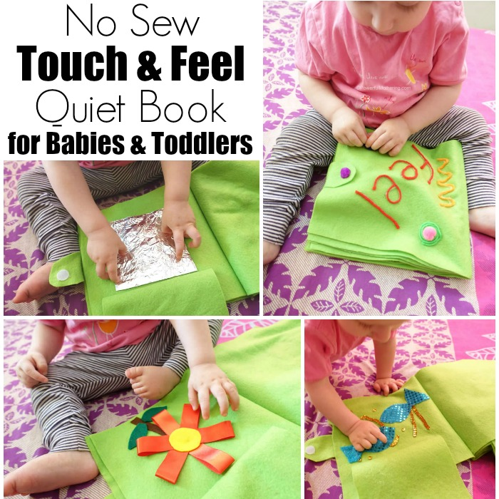 No Sew Touch & Feel Quiet Book for Babies & Toddlers fb