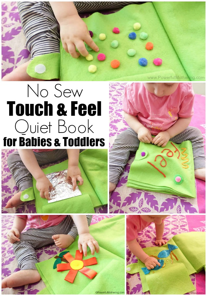 No Sew Touch & Feel Quiet Book for Babies & Toddlers