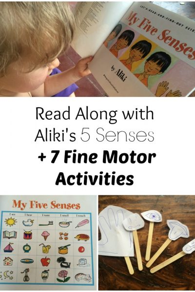 Read along and fine motor activites