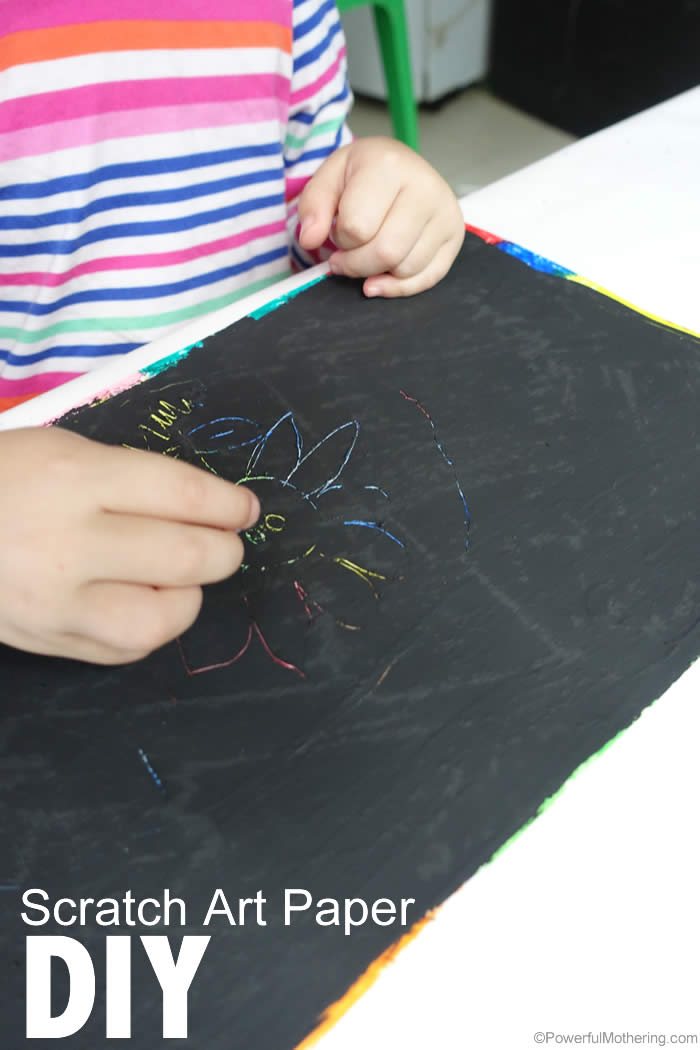 diy Scratch Art Paper how to
