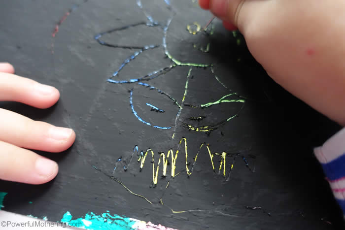 diy scratch paper art