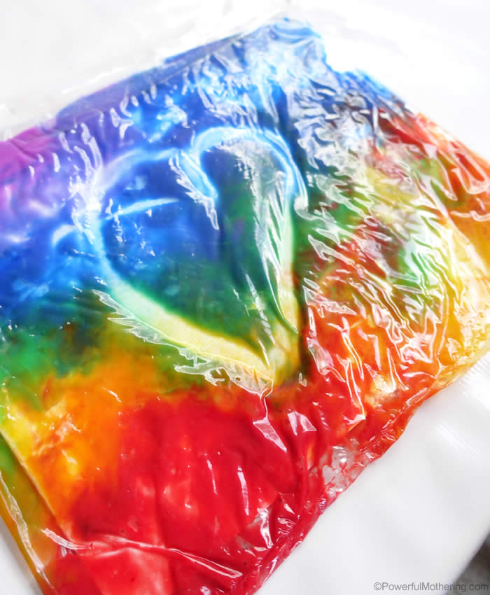 draw shapes in the rainbow paint