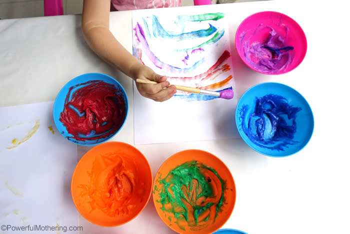 homemade rainbow paint