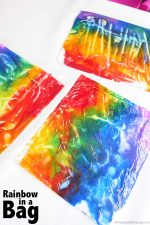 Rainbow in a Bag – No Mess Art