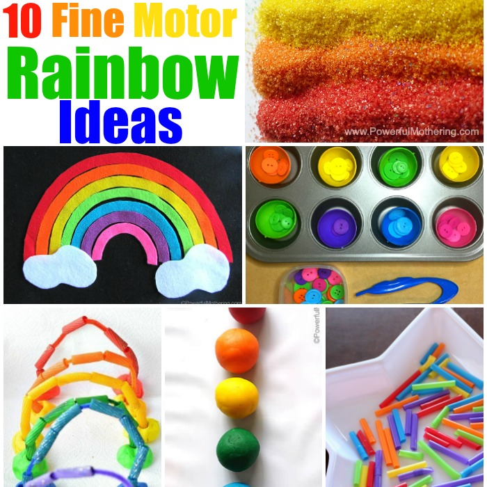 Top 10 fine motor skill ideas featuring rainbows for Fine motor skills activities for infants