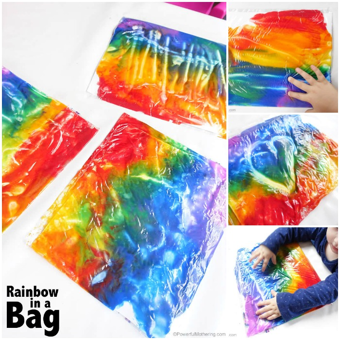 rainbow in a bag no mess art for tons of fun