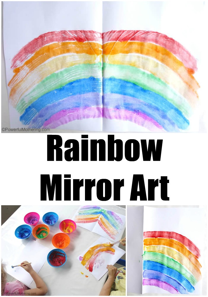 Rainbow Mirror Art with Leftover Homemade Paints