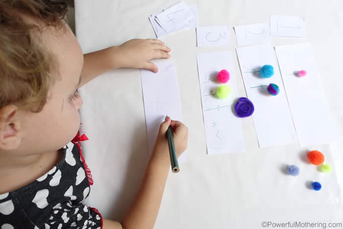 writing practice with number learning