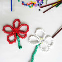 Beaded Flowers for Fine Motor Skills