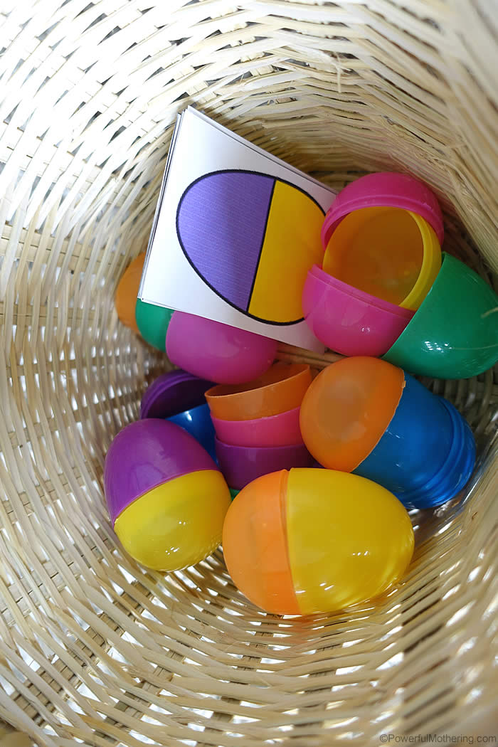 busy bag for easter plastic eggs