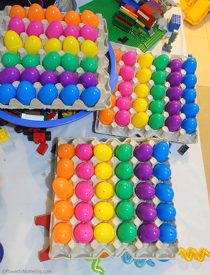 color sorting egg carton trays plastic eggs