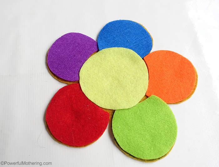 f is for felt flowers