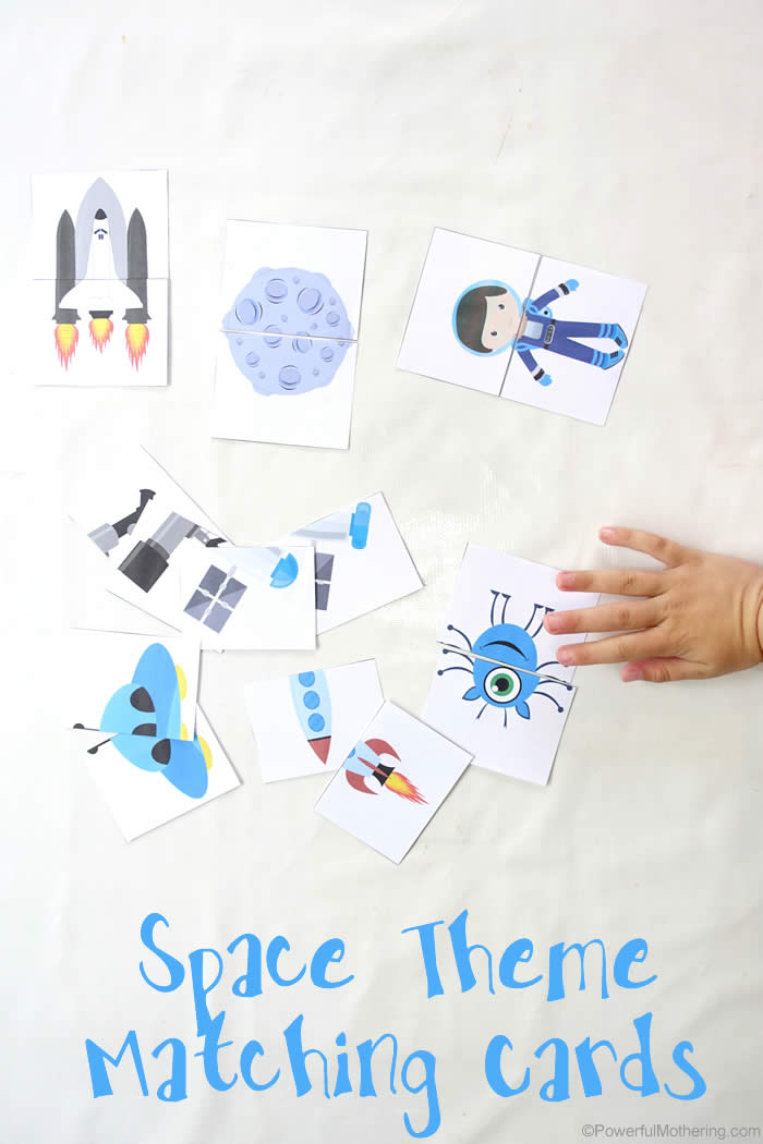 space explorer matching cards