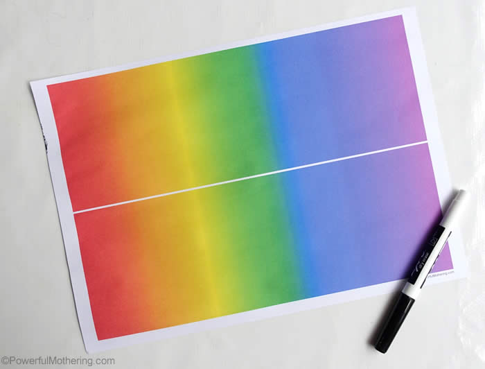 Color rainbow paper printable