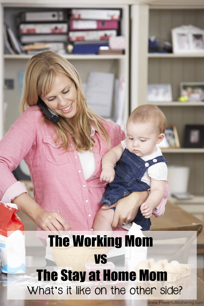 The Working Mom vs The Stay at Home Mom - What's it like? do you know?