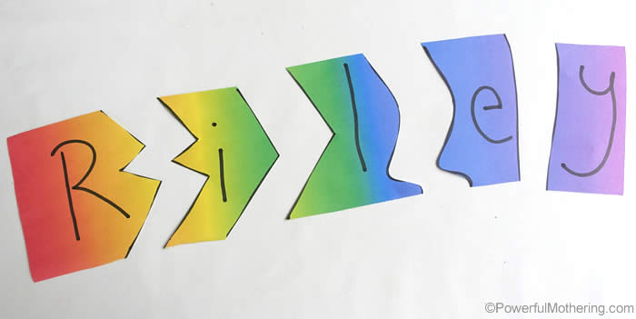 cut out puzzles for letters