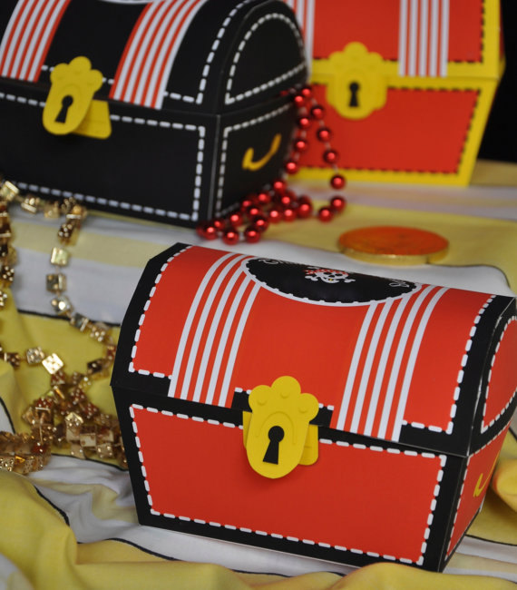 Mini Pirate Treasure Chest! The Best Ideas For A Pirate Birthday Party For Kids! Kids will enjoy these pirate-themed activities, snacks, treats and more!