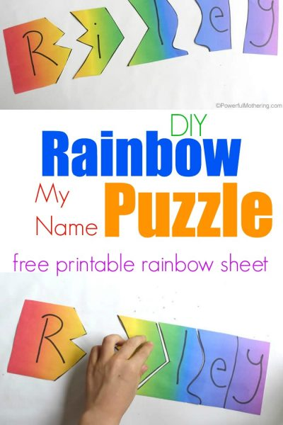 Rainbow My Name Puzzles