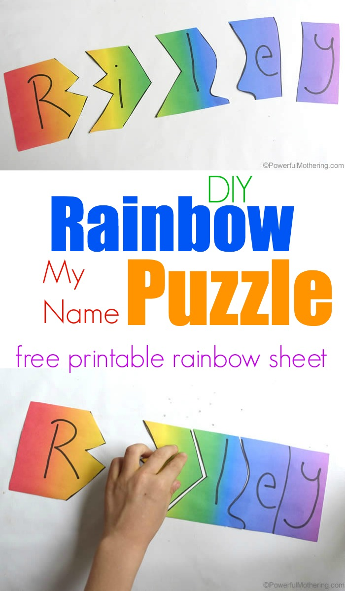rainbow my name puzzle