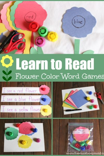 Flower Color Word Games